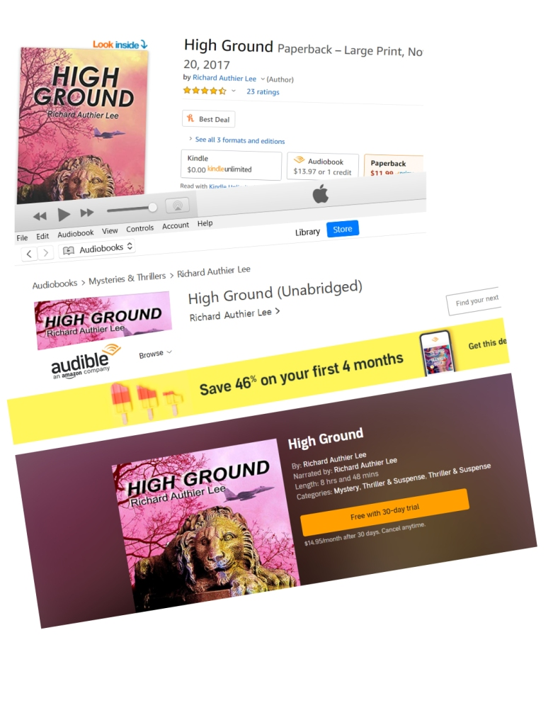 HIGH GROUND audiobook edition on Audible and iTunes